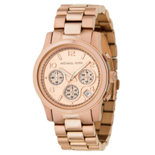 Rose Gold Plated Michael Kors Women's Runway watch MK5128