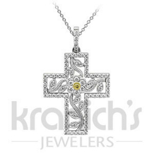 Simon G. Diamond Cross Pendant