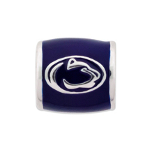 Penn State Lion Head on Blue Bead
