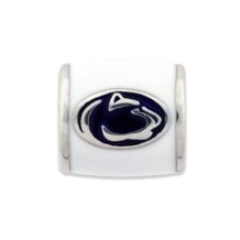 Penn State Lion Head on White Bead