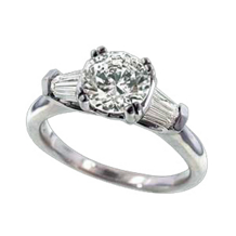 Ritani Royal Crown Round Diamond Engagement Ring