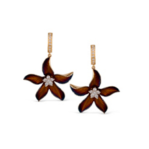 Simon G Organic Allure Flower Shaped Earrings
