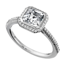Ritani Bella Vita Single Row Diamond Ring