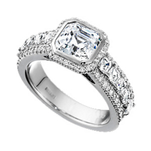 Ritani Bella Vita Asscher Cut Engagement Ring