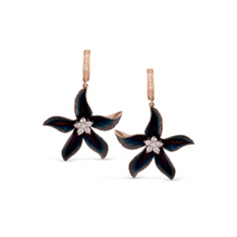 Simon G Organic Allure Flower Shaped Diamond Earrings