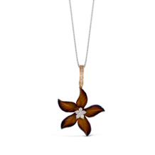 Simon G Organic Allure Flower Shaped Pendant