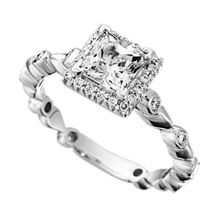 Ritani Bella Vita Round Bezel Engagement Ring