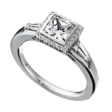 Ritani Bella Vita Bezel Set Princess Diamond Ring