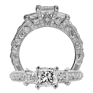 Ritani Romantique Three Stone Diamond Ring