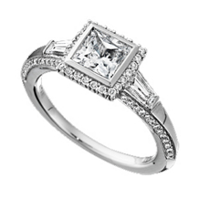 Ritani Bella Vita Bezel Set Engagement Ring