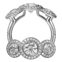Ritani Endless Love Three Stone Diamond Ring