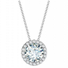 Forevermark® Diamond Pendant in 18k White Gold