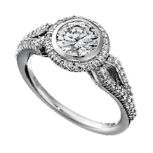 Ritani Bella Vita Kite Shaped Diamond Ring