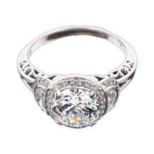 Ritani Masterwork Half Moon Diamond Ring