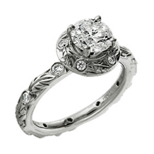 Ritani Romantique Round Diamond Engagement Ring