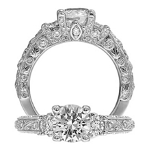 Ritani Romantique Three Stone Engagement Ring
