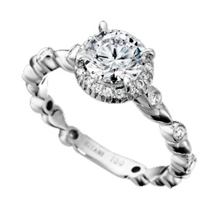 Ritani Bella Vita Round Diamond Teardrop Ring