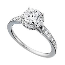 Ritani Bella Vita Round Stone Engagement Ring