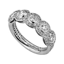 Ritani Diamond Five Stone Wedding Band