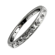 Leaf Motif Ritani Diamond Band