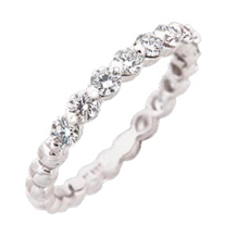 Classic Ritani Diamond Eternity Band