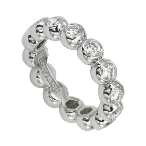 Bezel Set Ritani Diamond Eternity Band