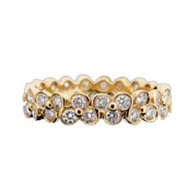 Clover Pattern Ritani Diamond Eternity Band