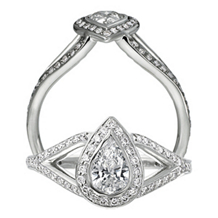 Ritani Endless Love Pear Shaped Diamond Ring