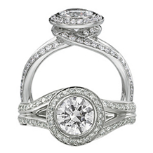 Ritani Endless Love Swirl Diamond Ring