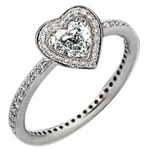 Ritani Endless Love Heart Diamond Ring