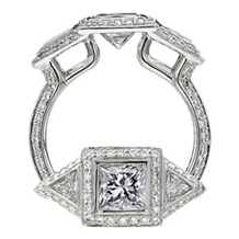 Ritani Endless Love Trilliant Diamond Ring