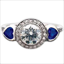 Ritani Endless Love Sapphire Heart Diamond Ring