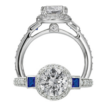 Ritani Endless Love Gold Sapphire Diamond Ring