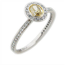 Ritani Endless Love Yellow Oval Diamond Ring