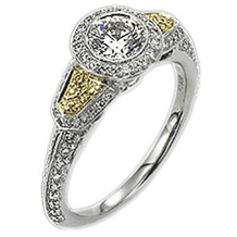 Ritani Endless Love Bezel Set Diamond Ring