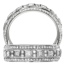 Ritani Endless Love Princess Cut Wedding Band
