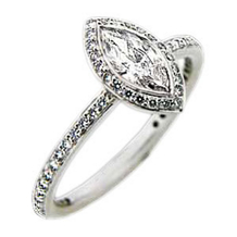 Ritani Endless Love Marquis Diamond Ring
