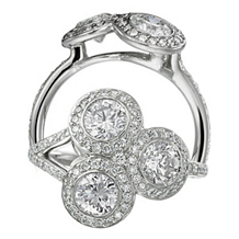 Ritani Endless Love Three Diamond Ring