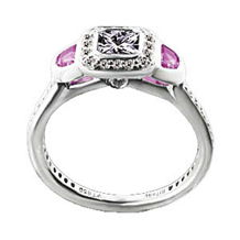Ritani Endless Love Ring With Half Moon Pink Sapphires