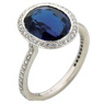Ritani Endless Love Oval Sapphire and Diamond Ring