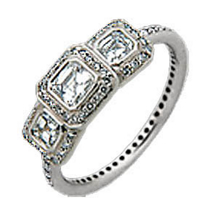 Ritani Endless Love Three Asscher Diamond Ring