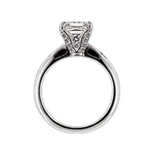 Ritani Setting Princess Cut Diamond Engagement Ring
