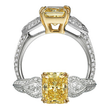 Ritani Masterwork Yellow Diamond Engagement Ring