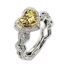 Ritani Masterwork Yellow Heart Diamond Ring