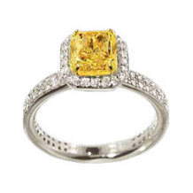 Ritani Masterwork Radiant Yellow Diamond Engagement Rin