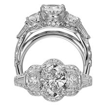 Ritani Masterwork Oval Diamond Engagement Ring