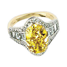 Ritani Masterwork Yellow Oval Diamond Engagement Ring