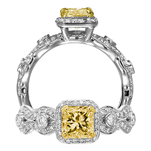 Ritani Masterwork Yellow Radiant Cut Diamond Ring