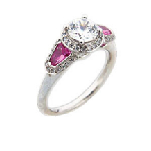 Ritani Masterwork Diamond And Pink Sapphire Ring