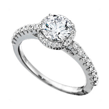 Ritani Bella Vita Round Diamond Engagement Ring